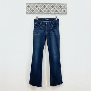 7FAM Kimmie Bootcut Jeans Distressed Flare, 28